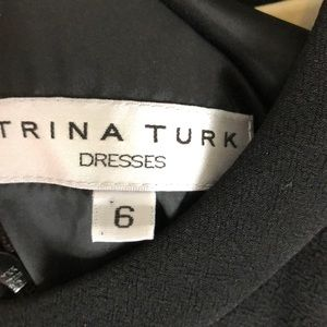 Trina Turk Dresses - Trina Turk Black Dress with Beaded Sleeves